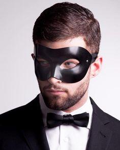 Mens Masquerade Outfit, Black Masquerade Mask, Venetian Masquerade Masks, Masquerade Ball, Black Balloons, Masked Man, Leather Mask, Black Mask, Sexy Men