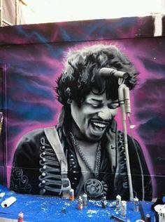 Street Art..Jimi Hendrix by David Gnasher