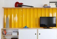 Mieszkanie w Sao Paulo - 56 m kw. Takie wykorzystanie blachy to bardzo oryginalny pomysł!