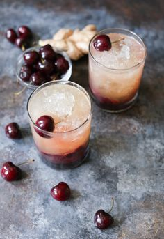 Spicy Cherry Bourbon Lemonade. This sweet and spicy bourbon-laced lemonade is made with just a handful of simple ingredients and is perfect for summer sipping.