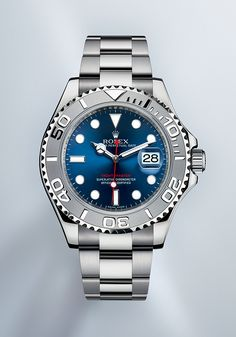 Rolex Watches New Collection : The distinctive rotatable bezel of this Yacht-Master 40 is made of solid 950 platinum. - Watches Topia - Watches: Best Lists, Trends & the Latest Styles Rolex Watches For Men, Sport Watches, Luxury Watches, Cool Watches, Rolex Oyster Perpetual, Sailing Watch, Gold Armband, Rolex Explorer, Rolex Models