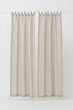 Linen Curtain Panels – Light beige – Home All