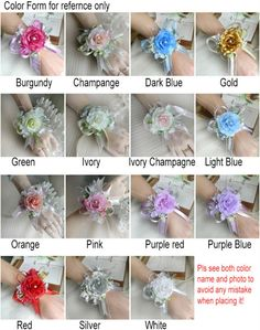 Wrist Flower Corsage Artificial Silk Rose Flower Corsage Decorations For Weddings Bride&Bridesmaid Flower Decoracao Mariage