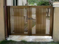 Front Gates, Entrance Gates, Entry Doors, Front Gate Design, Door Design, House Architecture Styles, Bamboo Light, Main Gate, Iron Doors