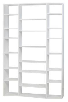 Valsa White 21 Shelf Bookcase, 9500.316579, Tema Home