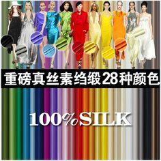 Silk silk material silk crepe satin formal dress multicolor #Affiliate