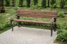 wrought-iron bench