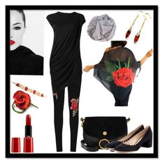 """Red & Black"" by rosa-shawls ❤ liked on Polyvore featuring WearAll, Rick Owens Lilies, Chloé, Giorgio Armani, Etsyfinds and rosashawls"