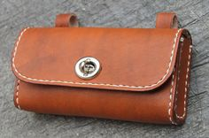 Handmade bicycle leather toolsbag/saddle by klemensandco on Etsy $20