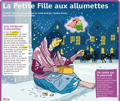Fiche exposés : La Petite Fille aux allumettes #noel #Navidad