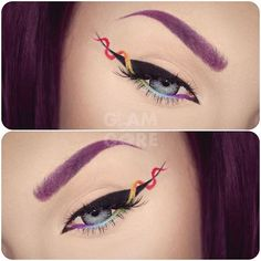 WEBSTA @ mykie_ - NEW TUTORIAL! How to do rainbow helix eyeliner inspired by…