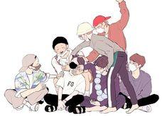 Kawaii Wallpaper, Bts Wallpaper, Laptop Wallpaper, K Pop, Teen Wolf, V Chibi, Loli Kawaii, Fan Picture, Bts Drawings