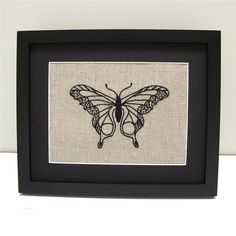 Butterfly Embroidery Kit #butterfly #canada #embroidery #embroidery-kit #iheartstitchart #indie-designer #intermediate #kit #linen