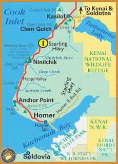 Cook Inlet, Alaska Map