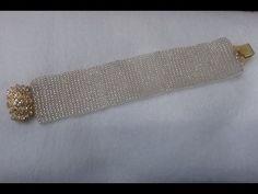 How to make a beaded loom bracelet - YouTube