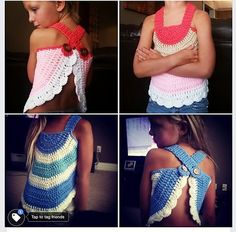 This is a pattern for a child crochet top. Your little one will look adorable in this whimsical swing top, perfect for those hot summer months! This top will fit ages 3-7yrs as is. I am working on smaller and larger patterns and will add them soon. :)