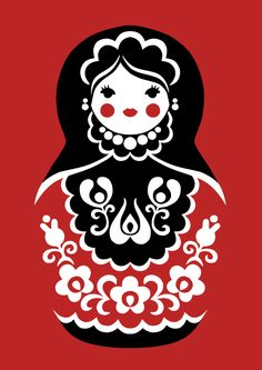 Matryoshka doll with hungarian folk art patterns. ********** Available to order as t-shirt and stuff on redbubble: www.redbubble.com/people/tnell… **********