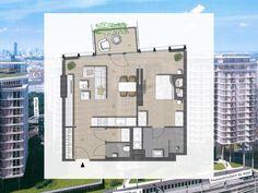 Top 805 – Hoch oben & modern_ Ein Vorsorgewohnung mit Stil & Wert! Modern, Floor Plans, House, Real Estate, Floor Plan Drawing, House Floor Plans