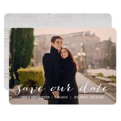 Shop Simply Effortless Wedding Save The Date Card created by berryberrysweet. Classic Wedding Invitations, Wedding Rsvp, Rustic Wedding, Save The Date Postcards, Save The Date Cards, Chelsea And Adam, Modern Save The Dates, Simple Weddings, Photo Cards