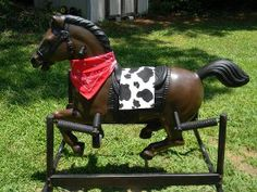 Cowboy in Training Rocking Horse @krylonbrand