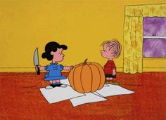 The Best Pumpkin-Carving Tools, According to a Professional Pumpkin Carver - In order to create a jack-o'-lantern that will impress the neighbors, you'll need the proper tools. Charlie Brown Halloween, Great Pumpkin Charlie Brown, It's The Great Pumpkin, Charlie Brown And Snoopy, Halloween Gif, Halloween Cartoons, Halloween Quotes, Happy Halloween, Peanuts Halloween
