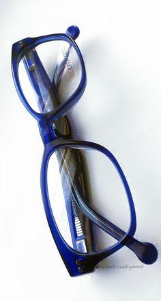 Ultramarine Blue eyeglass frames. Hipster hornrim glasses by Colors in Optics. Marshall C968