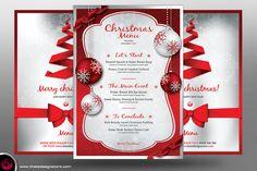 Christmas Menu Template V4 by Thats Design Studio on Creative Market