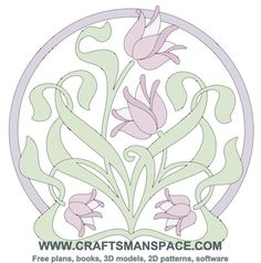 Art nouveau tulip design - loads of templates