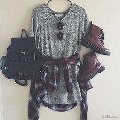 Resultado de imagem para looks tumblr vestido cinza