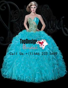 Wholesale 2016 sweet 15 dress Turquoise and Gold organza new puffy quinceanera ball gown with ruched bodice BS-1509 http://www.topdesignbridal.net/wholesale-2016-sweet-15-dress-turquoise-and-gold-organza-new-puffy-quinceanera-ball-gown-with-ruched-bodice-bs-1509_p4228.html