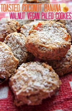 Toasted Coconut Banana Walnut Paleo Cookies #glutenfree #grainfree #paleo