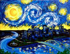 Pittsburgh: Biggest Starry Night Ever!!