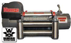 Treuil Electrique Warrior Samurai 4309 kg 24v   ✓ ref: 95SS24   Superbe treuil de haute spécification. Idéal pour les applications de traction et 4x4. Les caractéristiques exceptionnelles comprennent des roulements moteur étanchent avec raccords en laiton, relais robuste et étanche. Livré avec guide-câble à rouleaux en acier inoxydable à fixer sur une platine ou équerre, commande standard et télécommande sans fil.   ☞ - 0%