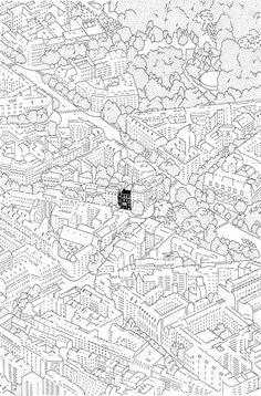 Eva Le roi Réinventer Paris Encre sur papier, 13,5 x 20,5 cm
