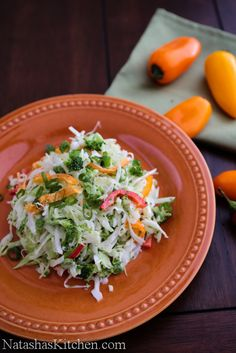Cabbage and Bell Pepper Salad Recipe. I picked up this recipe at a baby shower and it's been a family favorite ever since :)