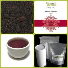cherry cola - black tea base with a the fruity flavour of cherry, truly a great combination reminiscent of cherry cola!