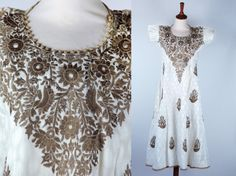 Embroidered Indian Dress by DesertMoss on Etsy