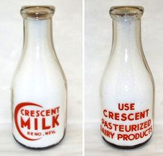 Crescent Milk bottle