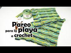 🏖👙Como tejer un pareo para la playa a crochet Lana, Youtube, Rats, Yarns, Tejidos, How To Knit, Hearts