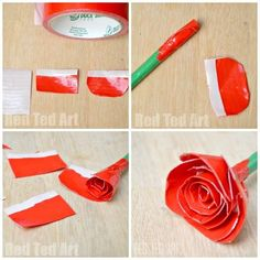 Duct Tape Roses Tuto
