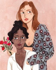 Illustration by Brunna MancusoYou can find Portrait illustration and more on our website.Illustration by Brunna Mancuso Art And Illustration, Illustration Design Graphique, Portrait Illustration, Illustrations And Posters, Watercolor Illustration, Friends Illustration, Website Illustration, Fashion Illustrations, People Illustrations