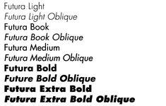 (Light, Light Oblique, Extra Bold, Extra Bold Italic) additions, c. 1950
