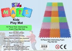 £13.45 Edz Kidz 18 PC Interlocking Foam Play Mat Set