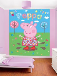 Peppa Pig Bedroom mural