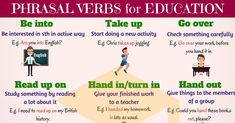 0shares Learn common phrasal verbs about Education in English. You can jump to any section of this lesson:1 Be into2 …