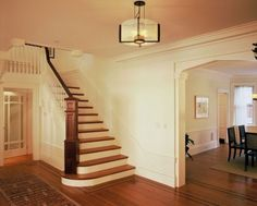 Love the curves on the bottom as well as the end of the bannister