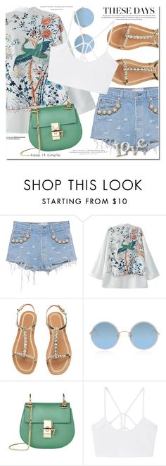 """""""Saturday mood"""" by monica-dick ❤ liked on Polyvore featuring Forte Couture, WithChic, Sunday Somewhere, Chloé, MANGO, H&M, StreetStyle, Summer, casualoutfit and summerstyle"""