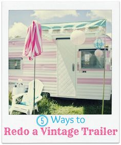 Fun on wheels!  Enjoy some vintage eye candy while you take a virtual tour of 5 vintage camping trailer makeovers | Infarrantly Creative