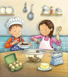 Make your child independent with ease and vine child care center helps you to learn new things efficiently is part of Kids clipart - Picture Comprehension, Picture Composition, Picture Writing Prompts, English Activities, Baking With Kids, Picture Story, Preschool Worksheets, Sequencing Activities, Language Activities