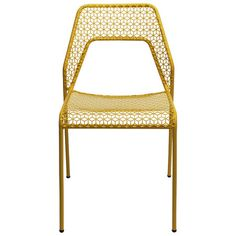 Bring contemporary appeal to your home with this eye-catching side chair, showcasing a powder-coated steel frame and a yellow finish.   ...